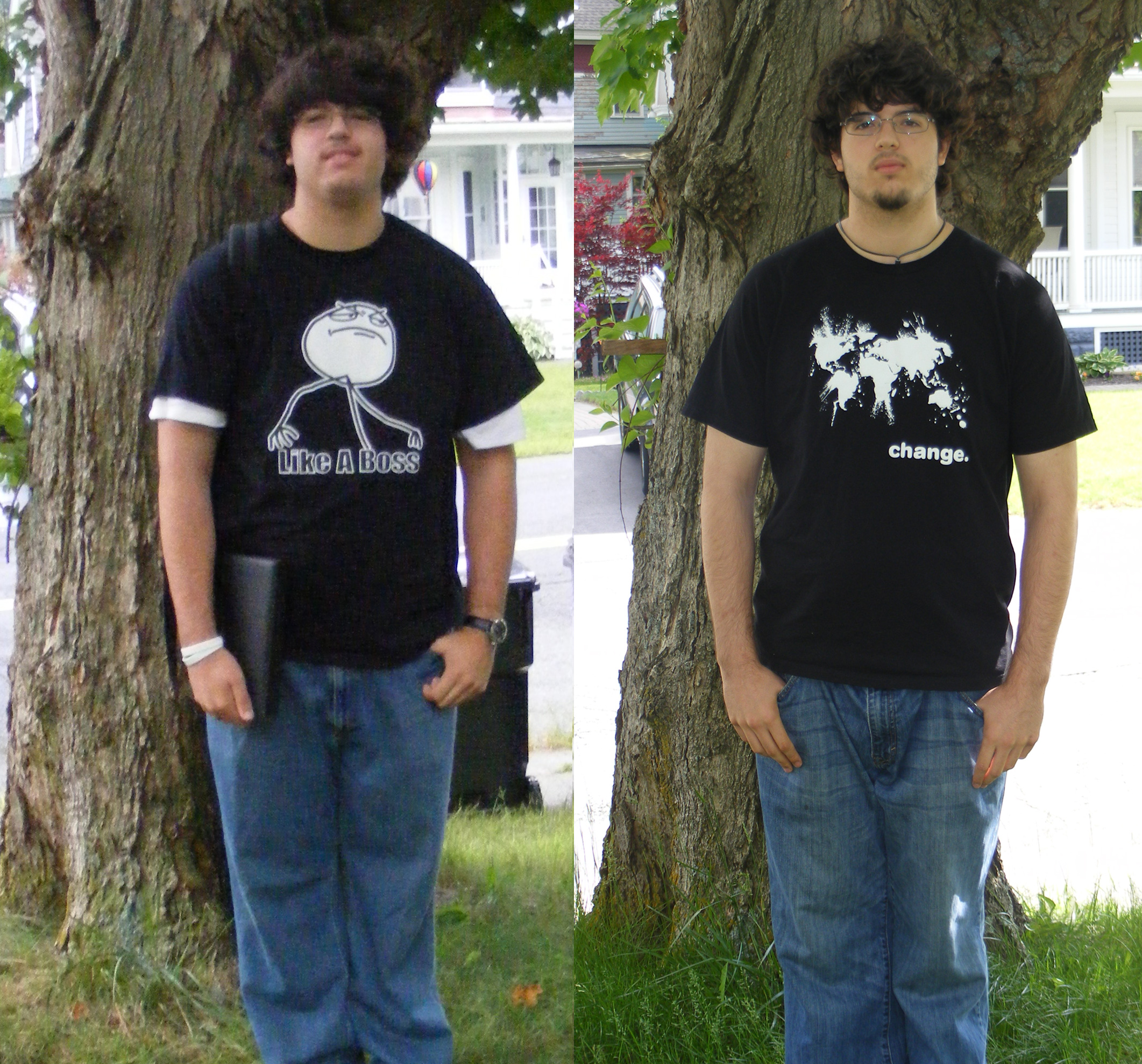 Original before and after pic from the first testimonial post.